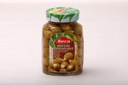 SERA GREEN OLIVES STUFFED WITH GARLIC 700G